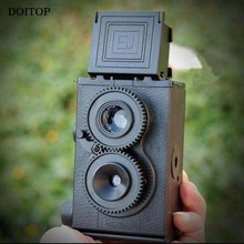 DOITOP DIY Retro Film Camera Kit Twin Lens Reflex TLR 35mm Classic Retro Lomo Film DIY Camera Toys Gift For Children/ Students
