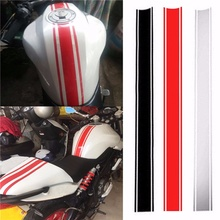 50x4.5cm Motorcycle Fuel Tank Stickers DIY Racing Fuel Tank Reflective Sticker Fine Striped Decoration Decals цены онлайн