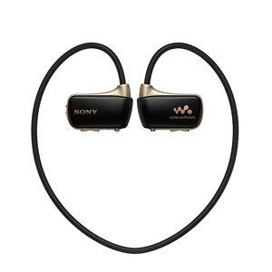 Image 4 - Verwendet, original Sony NWZ W273S 4 GB Wasserdichte Alle in One MP3 Player Schwarz kopf montiert player 4 GB