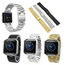 Smartwatch accesorios venda del reloj de pulsera de acero inoxidable para fitbit reemplazo incendio smart watch l3fe