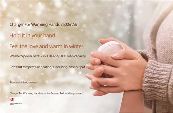 New PISEN 7500mah Hand Warmer Power Bank (3)