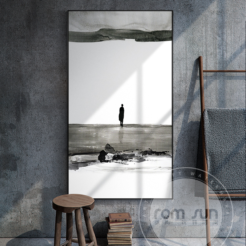 Black And White Paintings For Bedroom Bedroom Sets Black Modern Bedroom Black Bedroom Furniture Sets Pictures: Nostalgic Figure Canvas Painting Black And White Art Wall