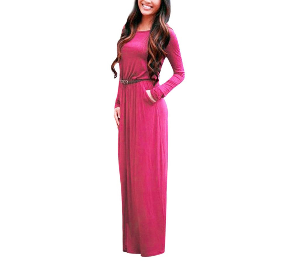 VESTLINDA Vintage Vestidos Longo Jurken Women Maxi Dress Full Sleeve Casual Dress Autumn A Line Solid Ropa Mujer Long Dress 8
