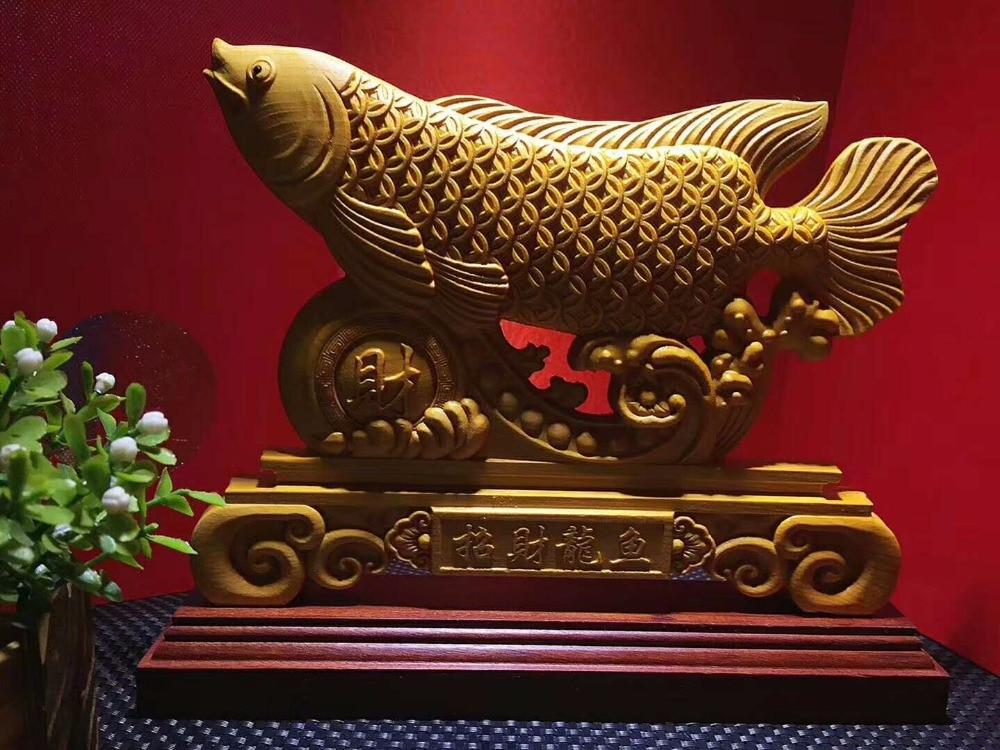TNUKK  Thuja lucky abundance fish ornaments crafts Jinlongyu TV cabinet Home Furnishing living room cabinet Decor.