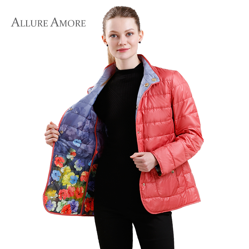 Spring Warm Cotton Padded Jacket Women   Parka   Female Jackets Windproof Coat with a Stand-up Collar New AllureAmore 2018