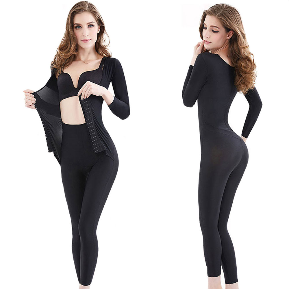 Women Full Body Shaper 3XL Plus Thigh Corset Tummy Control Slimming Corset Bodysuit Shapewear One-pieces Waist Trainer Jumpsuit zipper shapewear corset