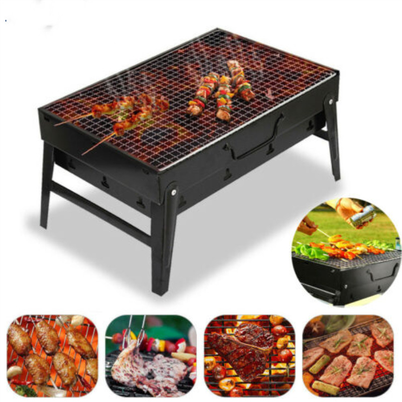 Small BBQ Barbecue Grill Folding Portable Charcoal Outdoor Camping Picnic Burner FoldableCharcoal Camping Barbecue Oven