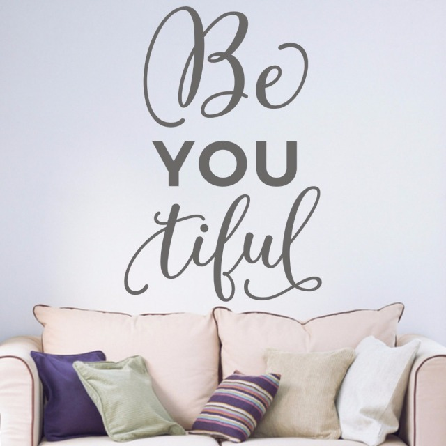 beyoutiful inspirational quotes motto tieners slaapkamer studeren kamer bedchamb livingremovable vinylmuurart sticker b050