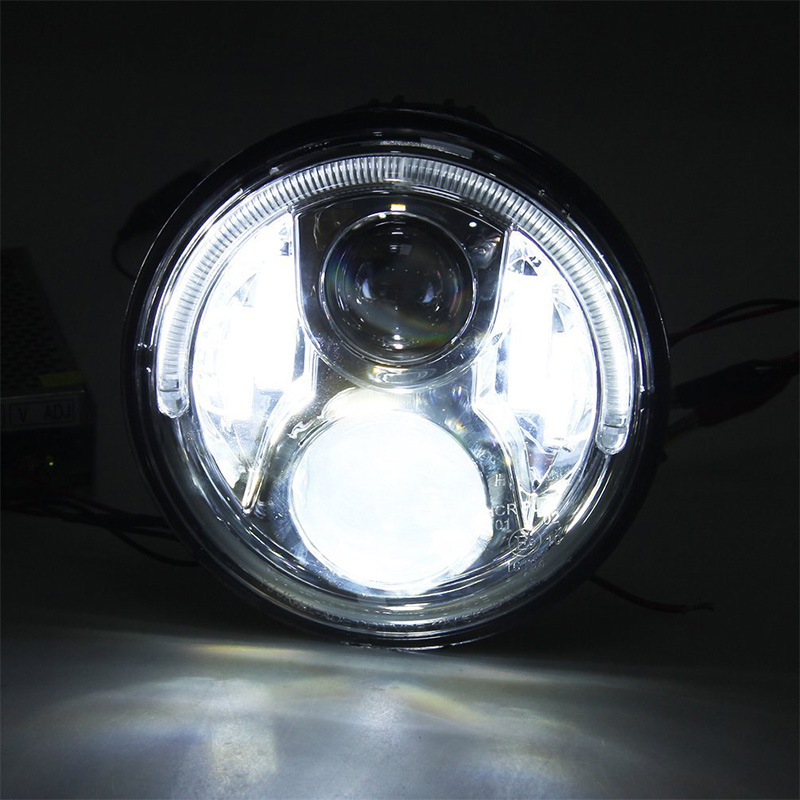 Motorcycle Headlight Led Halo Ring For Honda CB400 CB500 CB1300 Hornet 250600900 VTEC400 VTR250 CB250 Refit Round Light (4)