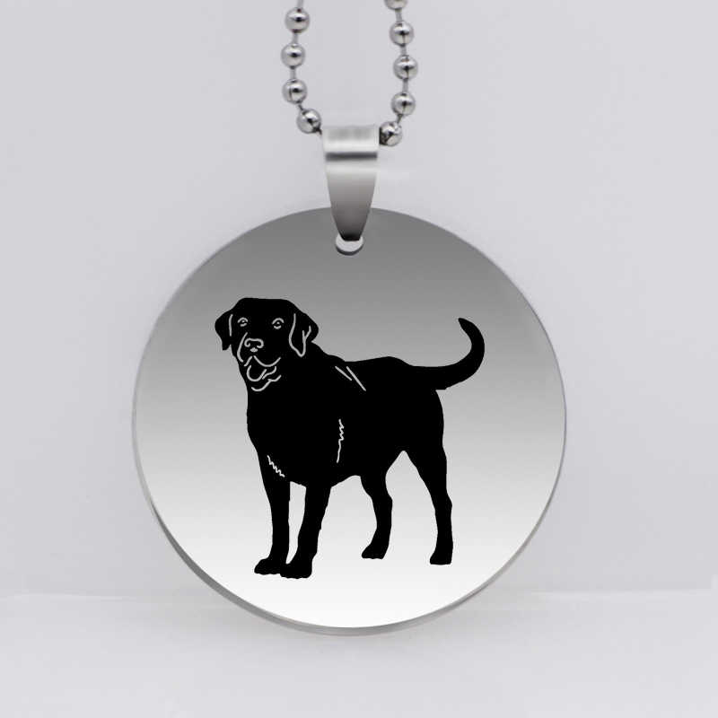 PAW PRINT Stainless Steel Labrador Retriever Dog Pendant Necklace Creative Dog Jewelry Drop Shipping YLQ6191
