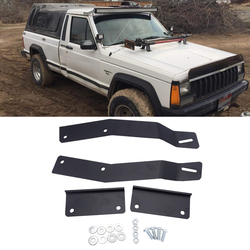 50 inches LED Light Bar Upper Roof Windshield Mounting Bracket Kit Fit for Jeep Cherokee XJ 1984-2001 No Need Drilling