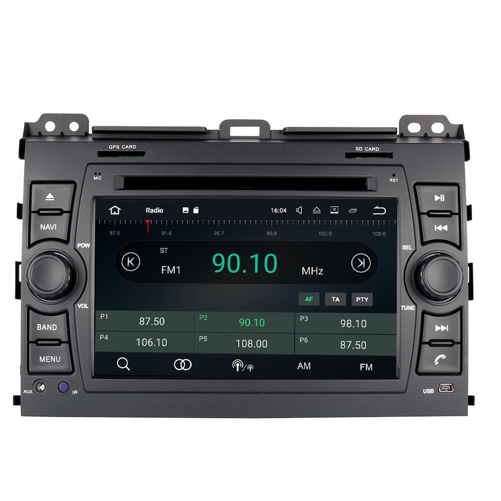 Android 9.0 <font><b>car</b></font> DVD player for Toyota Land Cruiser Prado 120 2002-2009/ <font><b>Lexus</b></font> GX470 dvd 3G <font><b>dvr</b></font> tape recorder stereo head units image