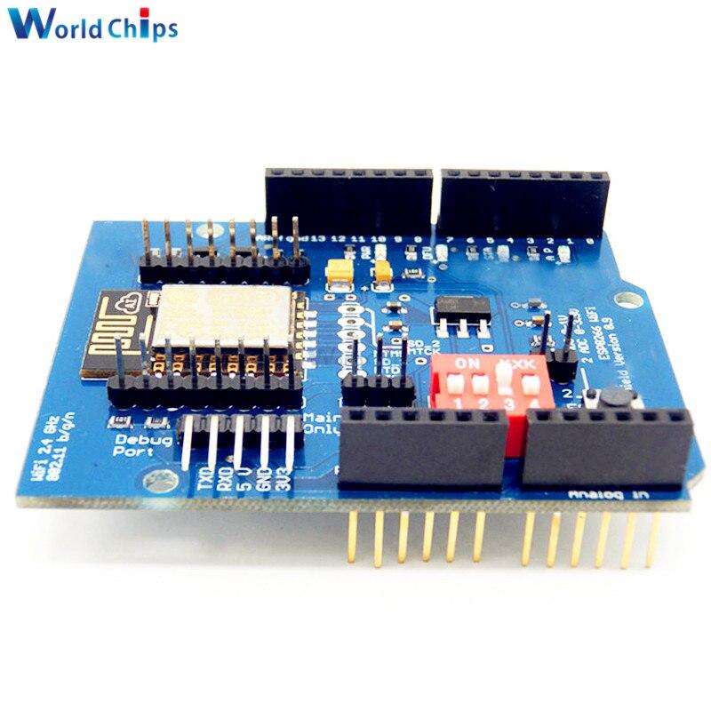 Esp e uart wifi wireless shield development