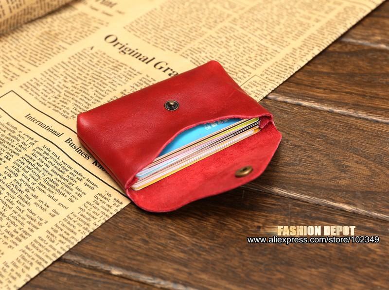 Vintage Genuine Leather Credit Card holder 19991# (5)