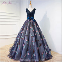 Julia Kui Unique Lace V Neck Ball Gown Quinceanera Dresses Beading Pearls Sleeveless Lace Up With Bow Elegant Formal Dresses