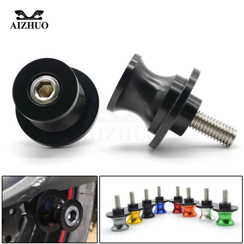 8mm Motorcycle Accessories Swingarm Spools slider stand screws For suzuki GSX650F GSXR1300 SV1000/S TL1000R GSR600 750 GSX-S 750