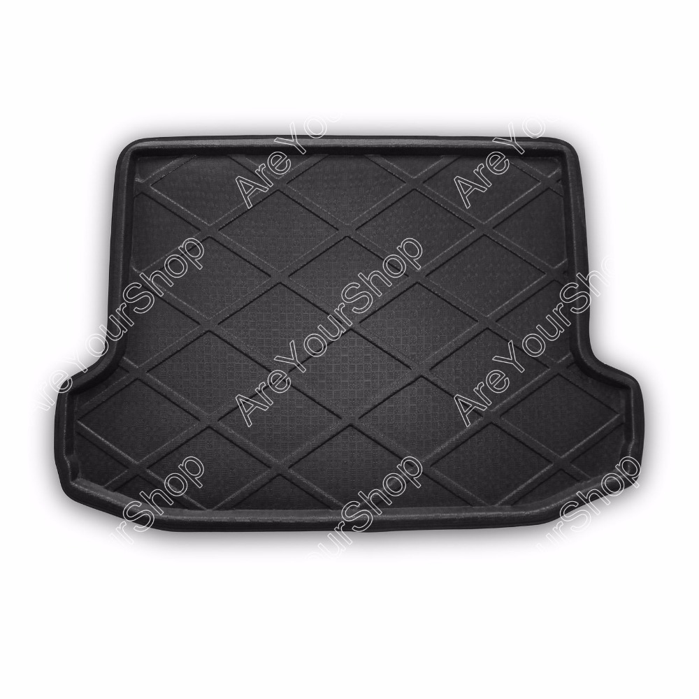 Car Auto Rear Trunk Cargo Mat Boot liner Tray Stickers Dog Pet Covers For Toyota RAV4 2006-2012 High Quality Car-Styling Covers car rear trunk security shield cargo cover for volkswagen vw tiguan 2016 2017 2018 high qualit black beige auto accessories