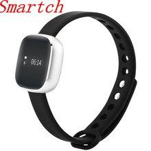 Smartch умный Браслет V8 Сенсорный экран Водонепроницаемый Смарт-часы Фитнес трекер шаг счетчика активности группа будильник