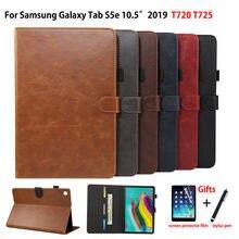 Luksusowe etui do Samsung galaxy tab S5e 10.5 2019 SM T720 SM T725 T720 pokrywa Funda Tablet PU skórzany stojak Shell Capa + Film + długopis