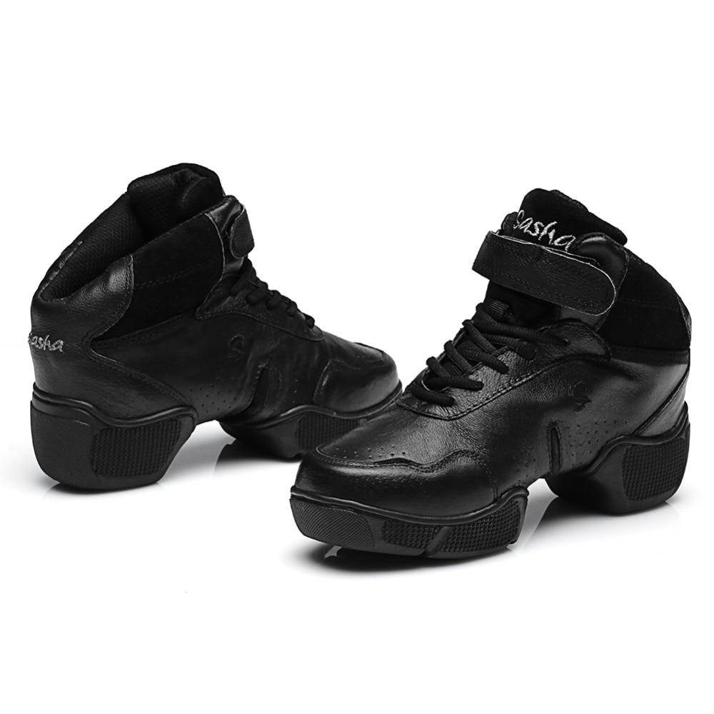 61d7414800 Hot venda por atacado Da Marca homens e mulheres do esporte Moderno Jazz  Hip Hop de Dança Sapatilhas Sapatos de cor preta frete grátis B57 em Sapatos  de ...