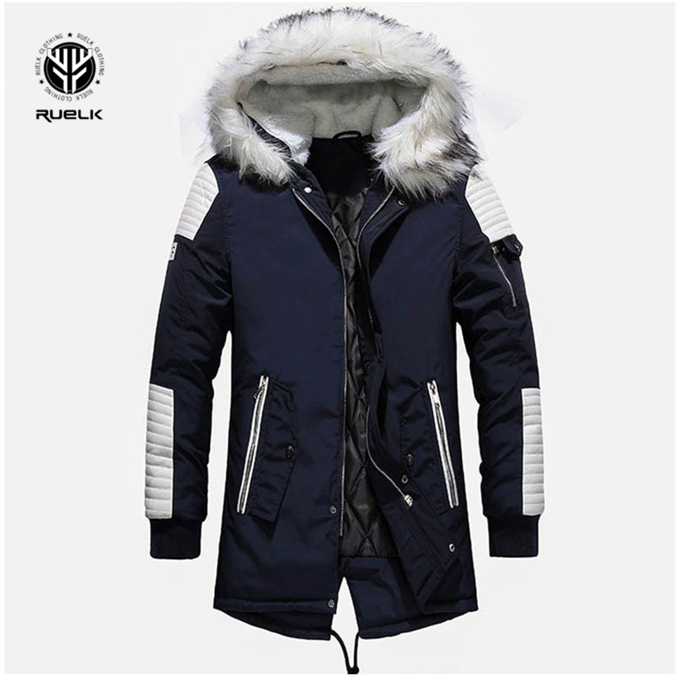 Brand New Winter Jacket Men Thicken Warm   Parkas   Casual Long Outwear Hooded Collar Jackets And Coats Men Veste Homme Wholesale