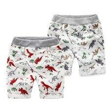 Модные детские штаны; летние брюки для детей; Шорты для маленьких мальчиков; недорогие пляжные льняные брюки с принтом динозавра; цвет красный, зеленый