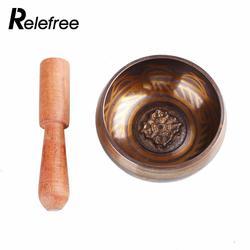Relefree Yoga Tibetan Singing Bowl Himalayan Hand Hammered Chakra Meditation