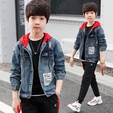 Boys Spring Autumn Fashion Handsome Denim Jacket Coat