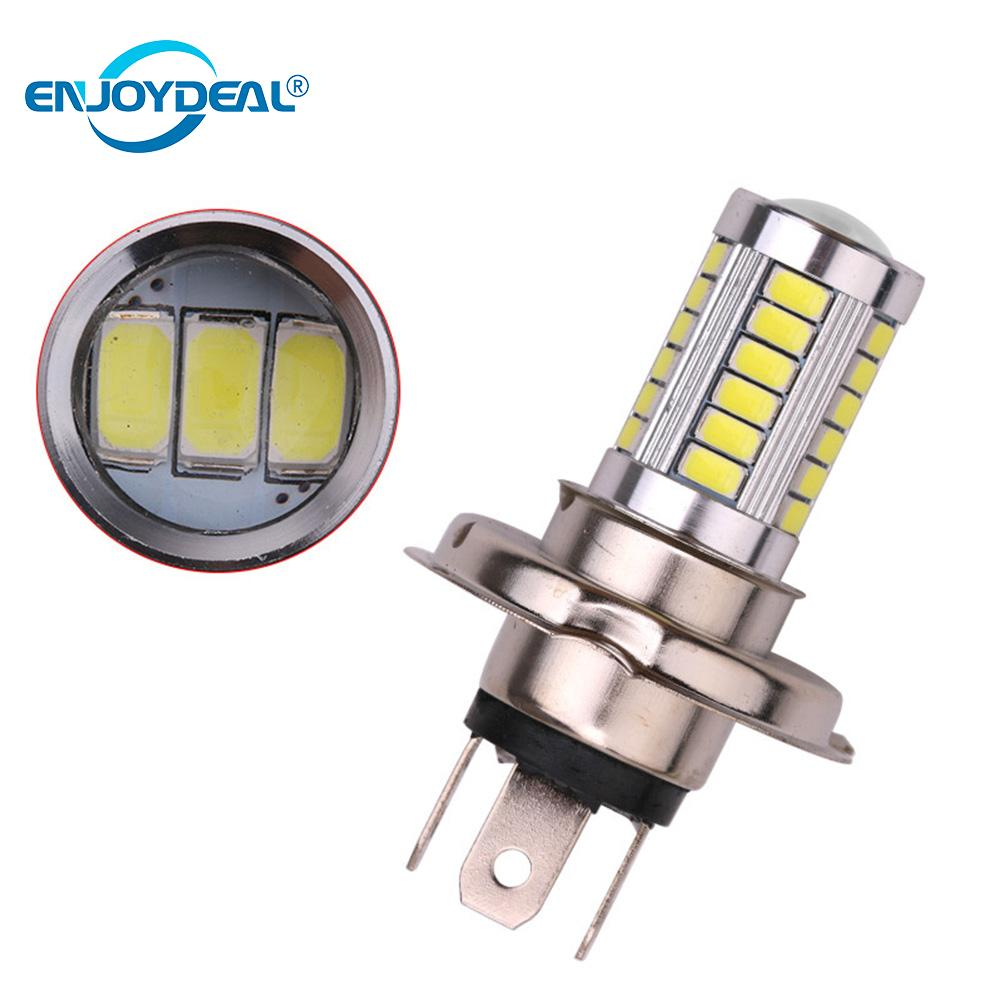 enjoydeal 1PC H4 SMD5630 Ultra-Bright LED White Auto Car Fog Driving Light Headlight Lamp Bulb Daytime Aluminum Fog Light Car enjoydeal 1PC H4 SMD5630 Ultra-Bright LED White Auto Car Fog Driving Light Headlight Lamp Bulb Daytime Aluminum Fog Light Car