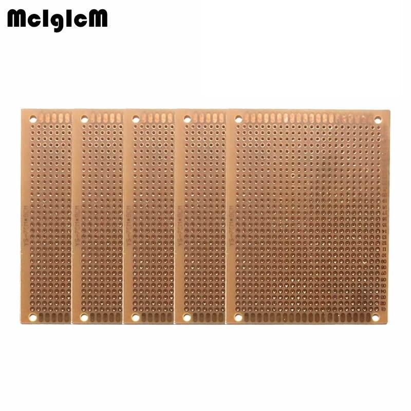 MCIGICM 10Pcs DIY Prototype Paper PCB Universal Experiment Matrix Circuit Board 7x9cm 7*9