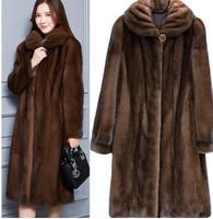 Newest Faux Mink Fur Coat Women Winter Fake Fur Coats For Women Long Artificial Fur Imitation Fur Jackets Plus Size 6Xl K974