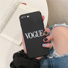 Simple Letters Phone Case For iphone XS Max XR X Case For iphone 11 Pro max 6 6s 7 8 plus Cover Soft Silicone Cases Black Capa(China)