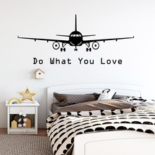 Free shipping Air Plane Nursery Wall Stickers Vinyl Art Decals For Living Room Bedroom MURAL Drop Shipping
