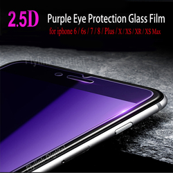 На Алиэкспресс купить стекло для смартфона protective glass on the for iphone 6 7 tempered glass screen protector anti blue light front glass for iphone 6 s 7 8 xs xr plus
