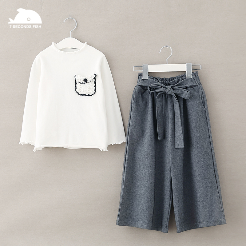 2018 autumn new Clothing Sets girl Cotton casual children's wear Baby girls T-shirt+ Shorts Pants 2 Pcs Clothes Sets cotton 2018 spring autumn new girls leggings t shirt baby boy girl pants t shirts ribbed children s clothing sets baby girl clothes