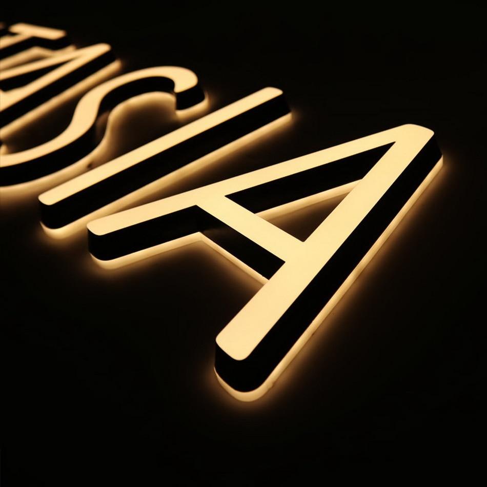 3D Waterproof Led Sign Double Sides Lit Acrylic Signage Led Warm Light Sign Letter