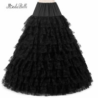 modabelle Black/White 6 Hoop Wedding Petticoats Plus Size Puffy 9 Lace Layer Underskirt Ball Gown Crinoline Vintage 2018
