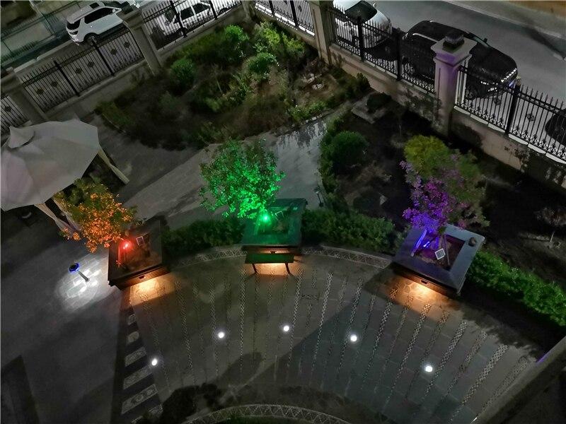 Branco Bule Vermelho Amarelo Verde LED Inground