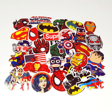 Pvc Stickers 40Pcs Cartoon Superhero Waterproof