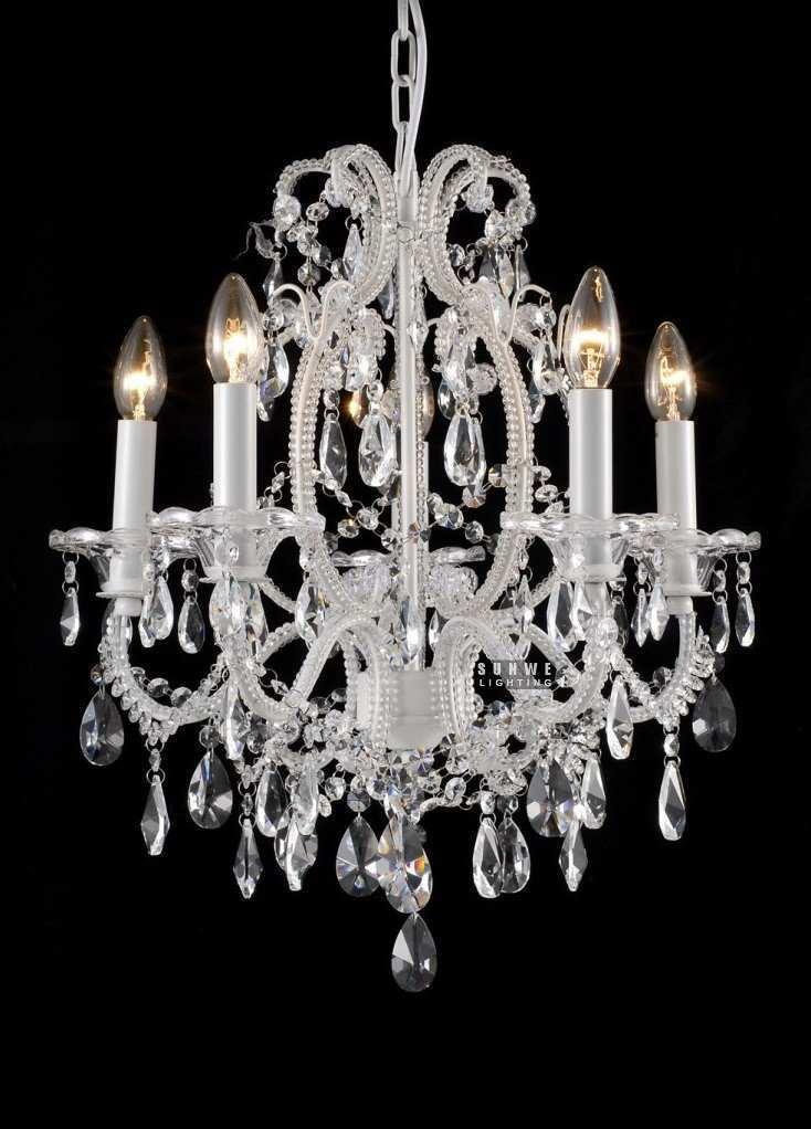 white shabby chic chandelier girls room chandelier chandelier crystal drops e9081 51cm w x 53cm h