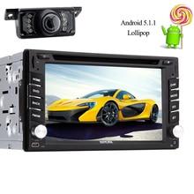 2 din Android 5.1 dvd GPS Navigator Autoradio 1024*600 double 2din Car Radio video mp5 Automotive DVD multimedia Cassette Player