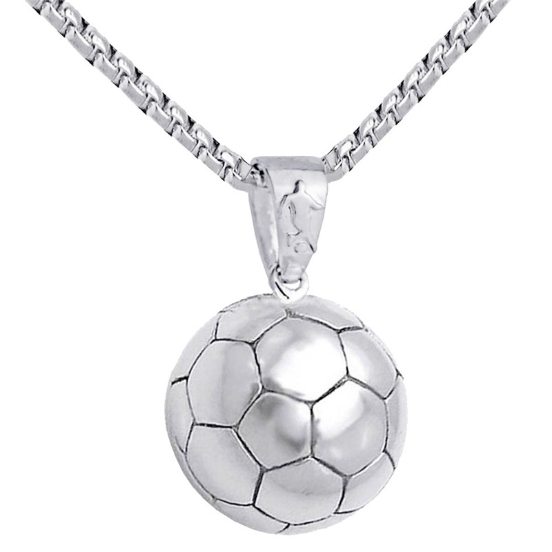 Football Pendant Necklace Men Stainless s