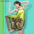 RB022 High Qulaity 2015 Zanzea Sexy New Women Floral Silk Strap Sleepwear Casual Loose Maxi Long Nightdress Nightgown