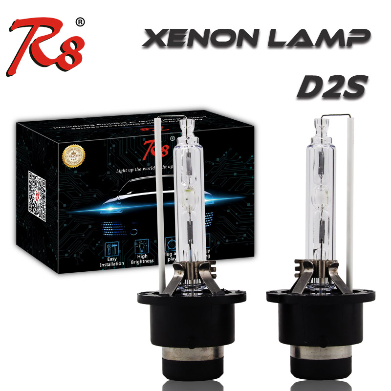 2PCS R8 Brand HID Headlights D2 D2S Xenon Bulb Car OEM Replacement Lamp 35w 4300K 6000K 8000K Yellow White Light Good Quality