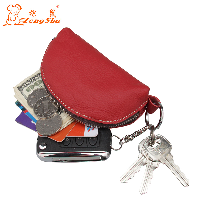 Zongshu Cheap Design Coin Purse Women Travel Door Key Case Wave Mini Coin Pouch Wallet Genuine leather small pouch custom accept new brand mini cute coin purses cheap casual pu leather purse for coins children wallet girls small pouch women bags cb0033