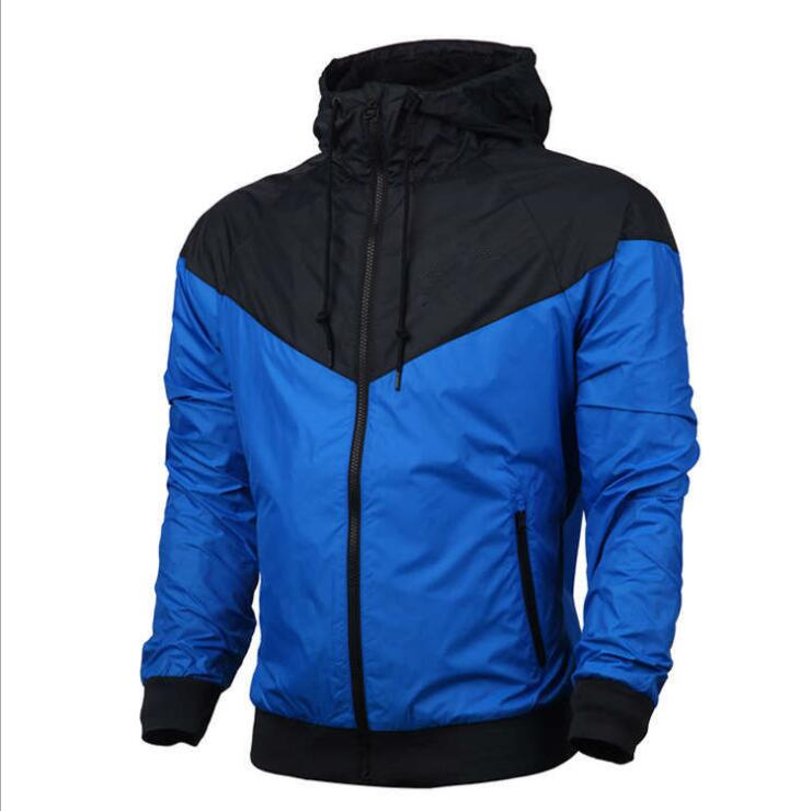 New Mens Running Jackets Fitness Sports Coat Hooded Tight Hoodie Gym Soccer Training Run Jogging Jackets Windbreaker C267