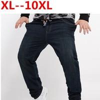 Plus Size 10XL 8XL 6XL 5XL 4XL Men Brand Jeans Fashion Casual Male Denim Pants Trousers