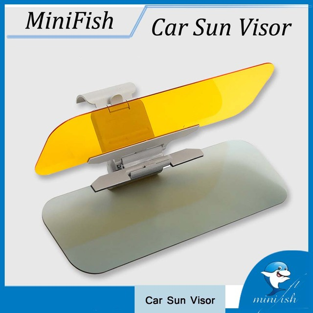 New HD Car Anti-glare Dazzling Goggle Day Night Vision Driving Mirror UV Fold  Flip Down HD Car Clear View Sun Visor c2dc648dbe9