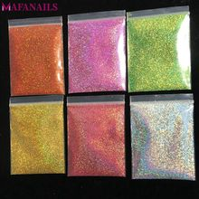 10g 008inch Holographic Nail Art Glitter Dust Powder Ultra-fine Holo for decoration