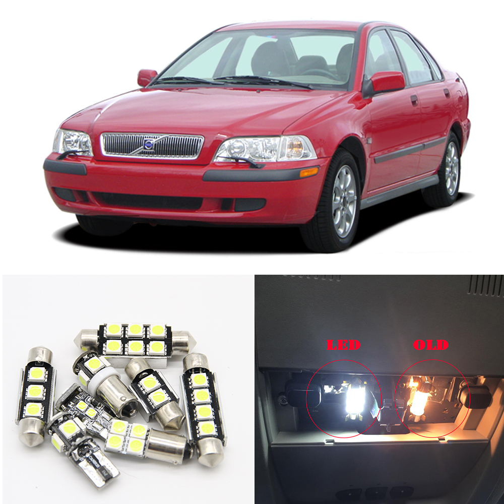 Us 11 88 10 Off For 2000 2001 2002 2003 Volvo S40 Canbus White Car Led Light Bulbs Interior Map Dome Trunk License Palte Light Package Kit In Signal